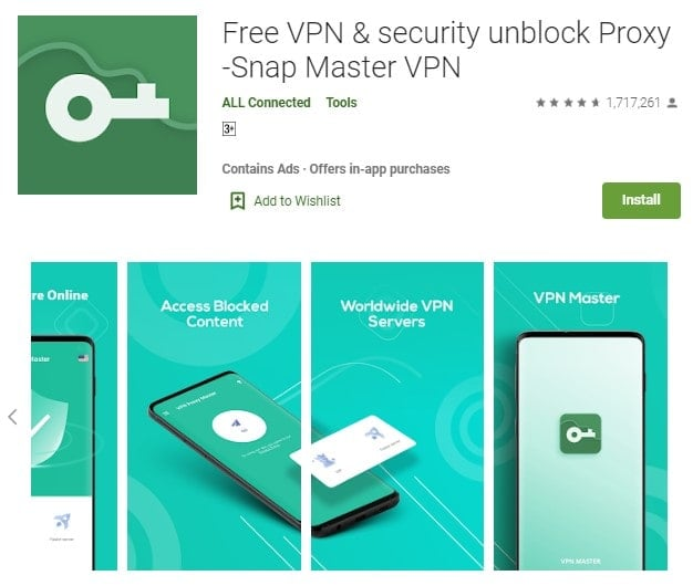 Free Download VPN Master for PC (Windows 10/7/8/Mac)