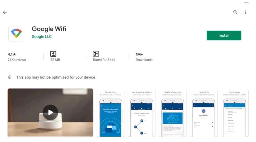 Google Wifi app For Mac
