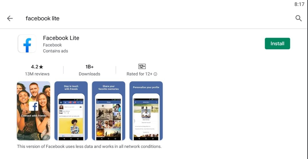 facebook lite For Mac