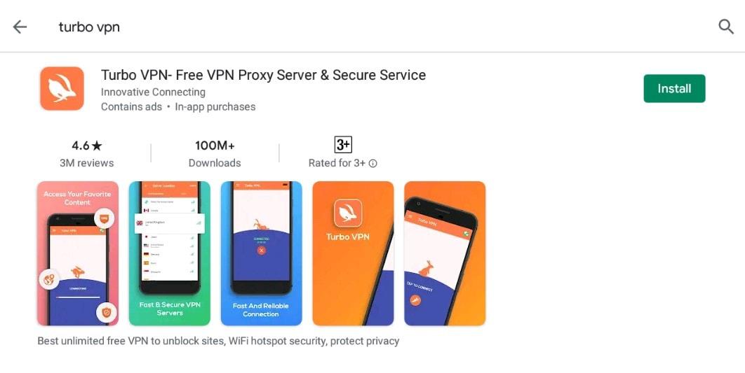 Turbo VPN- Free VPN Proxy Server & Secure Service