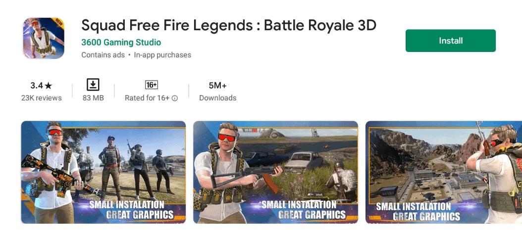 Squad Free Fire Legends