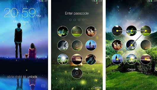 Fireflies Lockscreen for android 2020